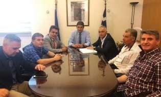Στον Υφυπουργό Αθλητισμού κ. Λευτέρη Αυγενάκη με την Ελληνική Ομοσπονδία Τετράθλου, ο Λάζαρος Τσαβδαρίδης
