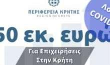 10 επιπλέον εκ. Ευρώ στο πρόγραμμα μη επιστρεπτέας επιχορήγησης που υλοποιεί η Περιφερεια Κρήτης